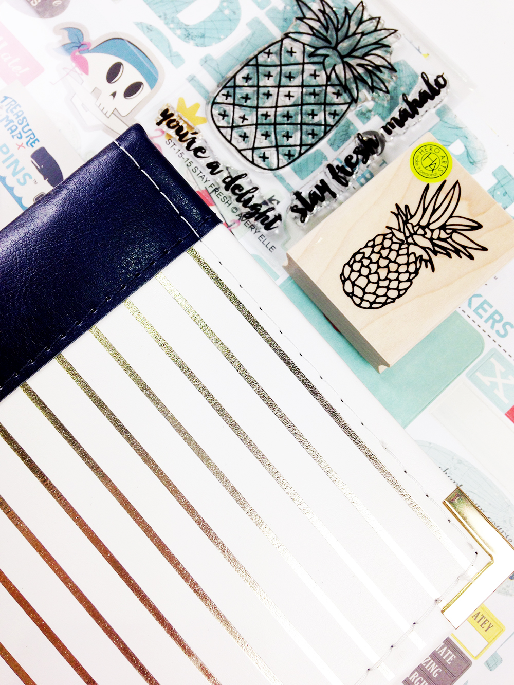 A peek at September Mini Book supplies...