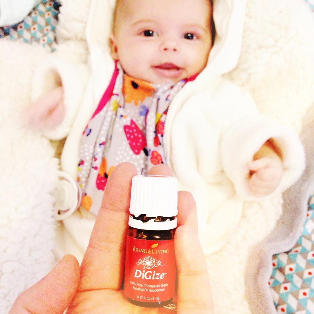 Photo de mon compte  Instagram  | cliquez sur l'image pour lire mon avis sur l'huile DiGize, qui soulage les problèmes de digestion ou, notamment, les crampes et les gaz pour les bébés...