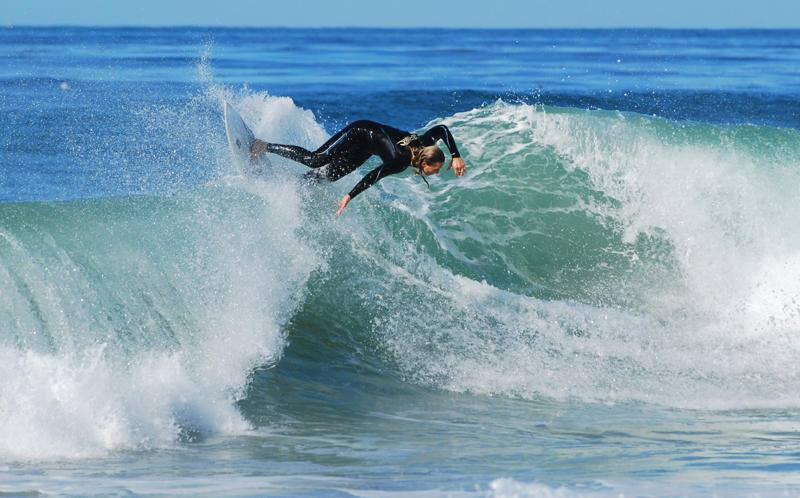 Imagine yourself here at the Famous Salt Creek BEach, with YFS-TT GRaduate Courtney Noble smacking the lip on this perfect wave!