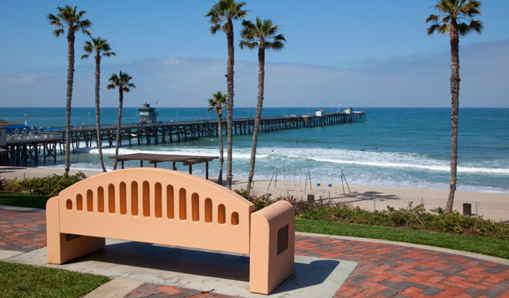 San clemente pier is a 15 minute walk from the volare hotel, headquarters of yoga for surfers teacher training!
