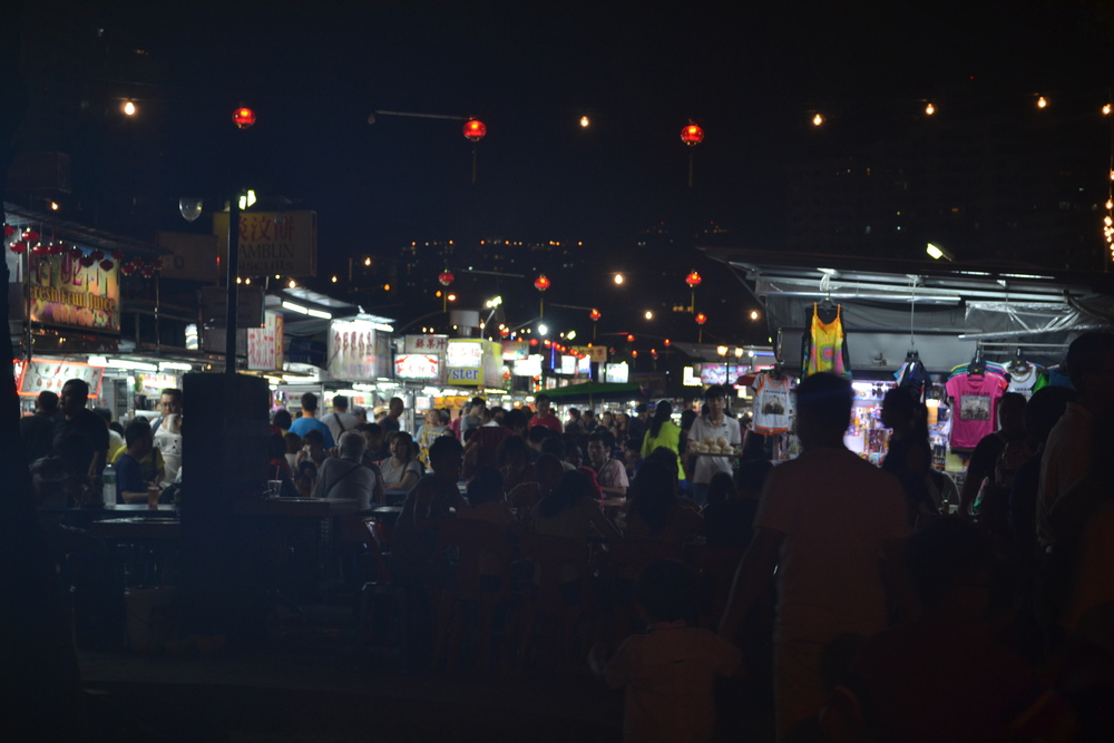 Lots and lots of people, with lots and lots of delicious hawker stalls.