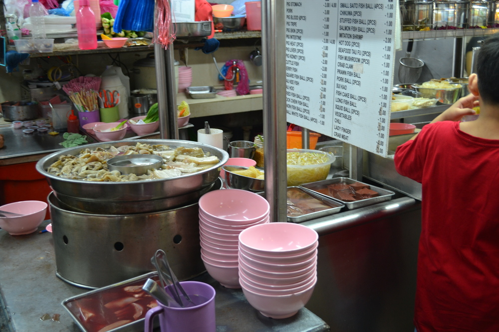 Typical layout of a hawker stall.