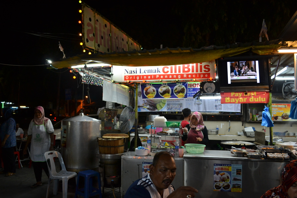 Every hawker food centre has a nasi lemak stall.