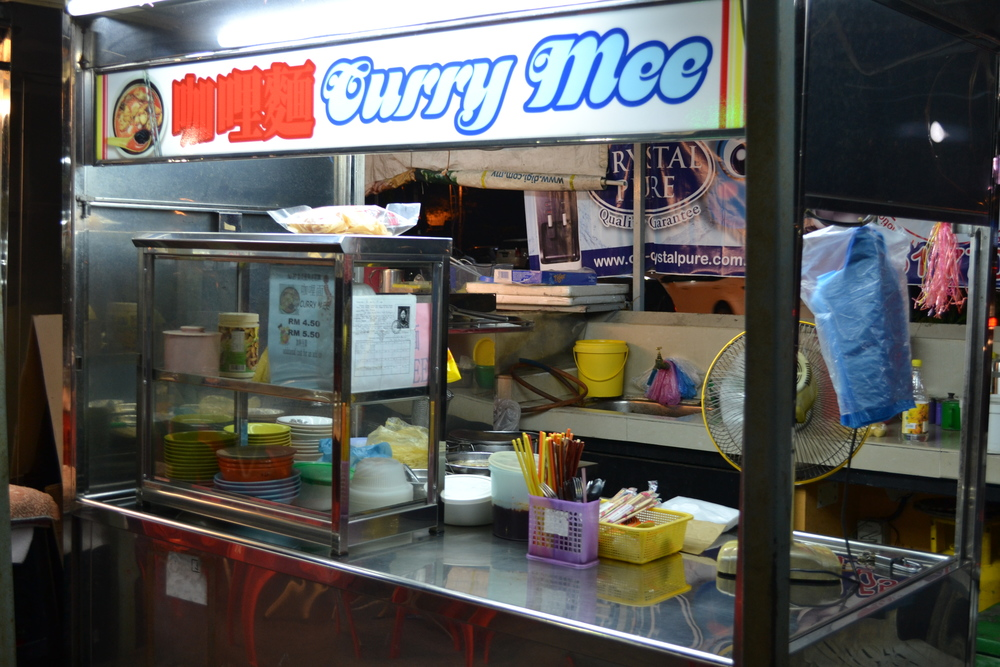 These stalls all have permits and certificates. Curry mee is what we call curry laksa in Australia.
