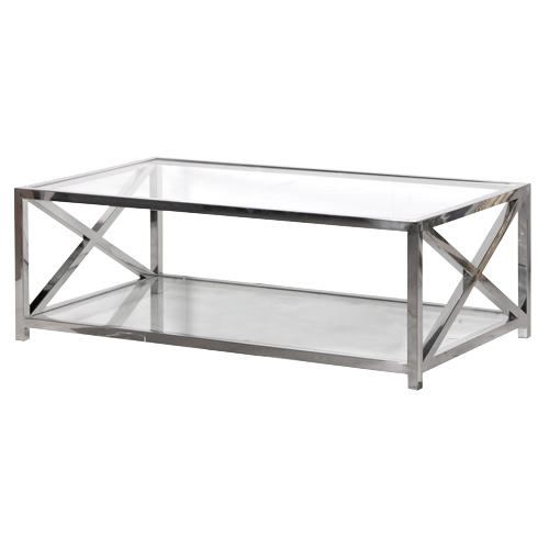 X Frame Coffee Table   JUST 059