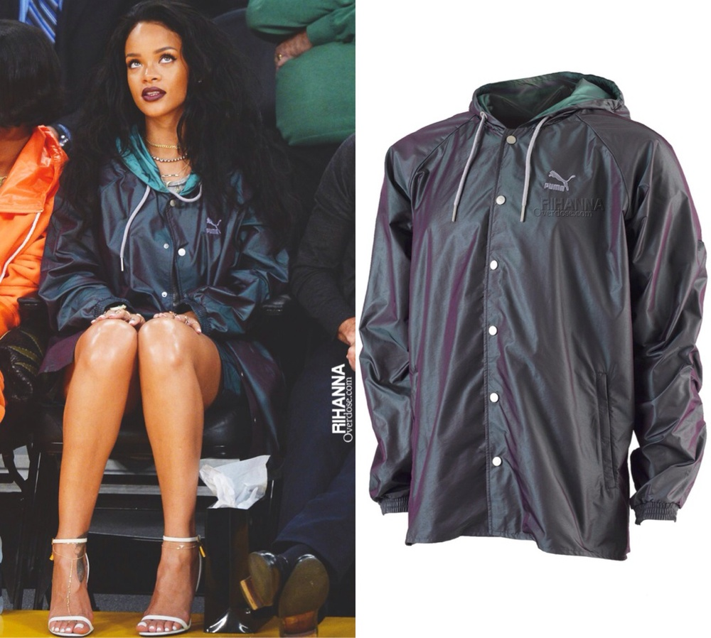 Rihanna in Puma x Violette Coach Jacket