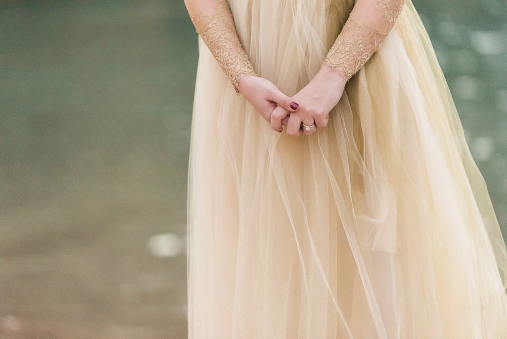 gold engagement dress