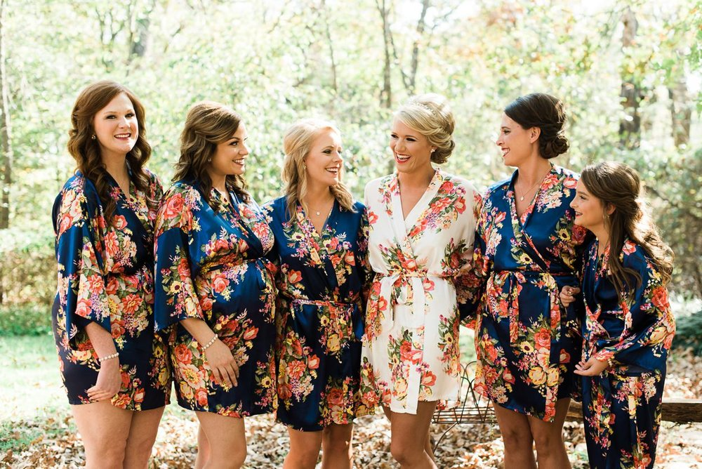 matching bridesmaids robes