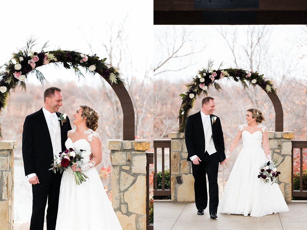 couple at tulsa wedding winter