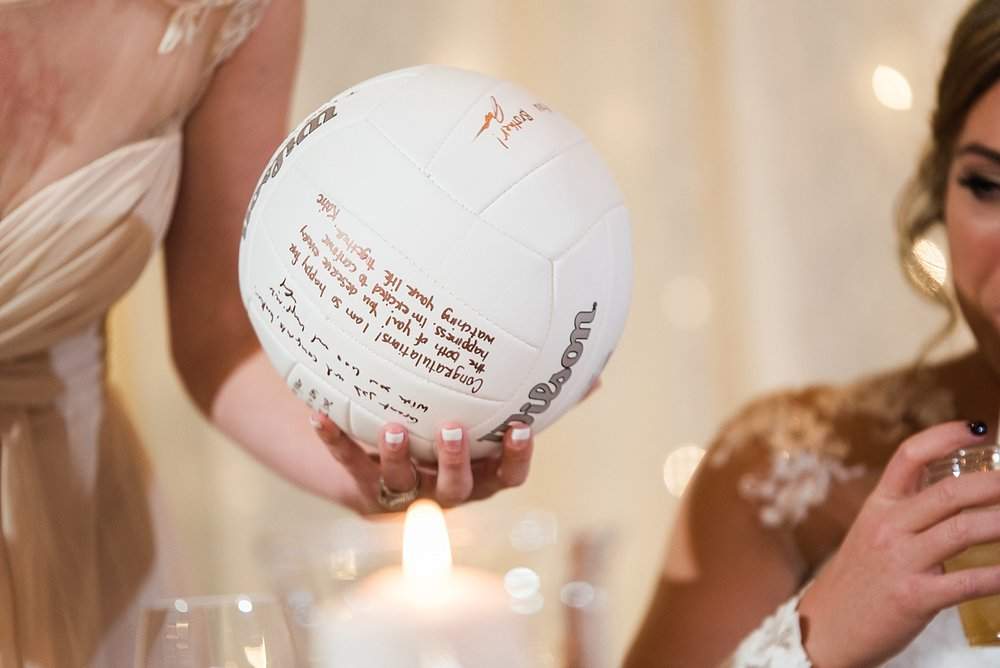 volleyball wedding gift