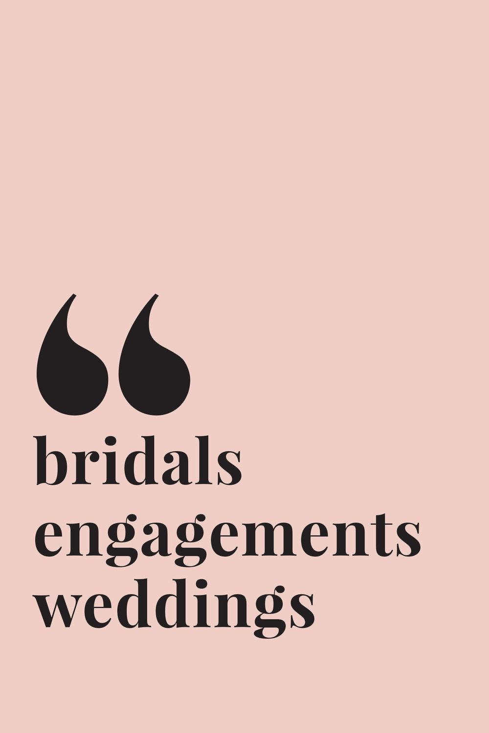 wedding and bridal portfolio