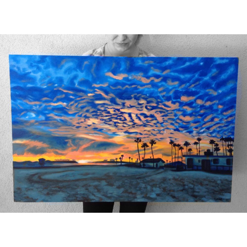 """Belmont Shore""- Oil on Canvas, Commissioned Piece"
