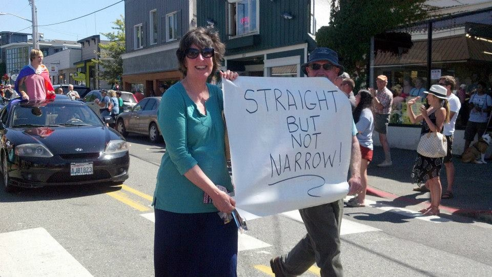 Allies march in the 2014 Queer Pride Parade on Whidbey Island on August 10.