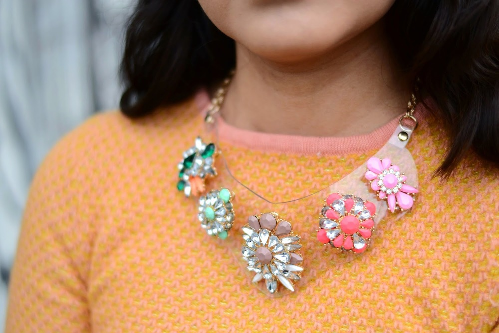 Bib Necklace {$28} on Monica Living in Vogue