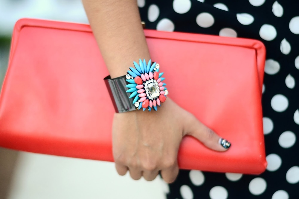 Multi-color Cuff Bracelet {$20} from Ibiss- Fall 2013