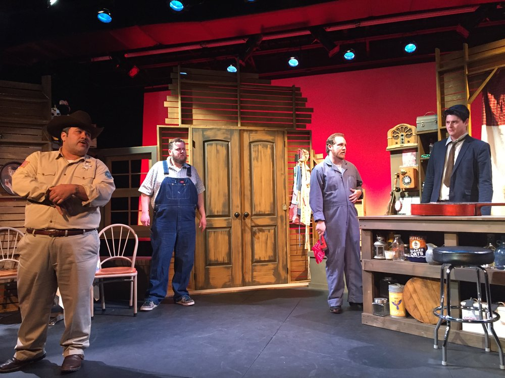 Set design by casey blanton, mandell theater, january 2015