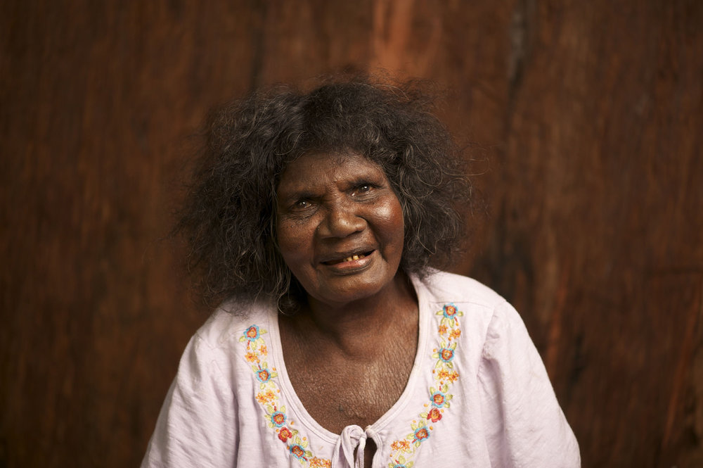 Portrait of Nyapanyapa Yunupingu. Courtesy the artist and Buku-Larrnggay Mulka, Yirrkala. Photo: Kai Brethauer.
