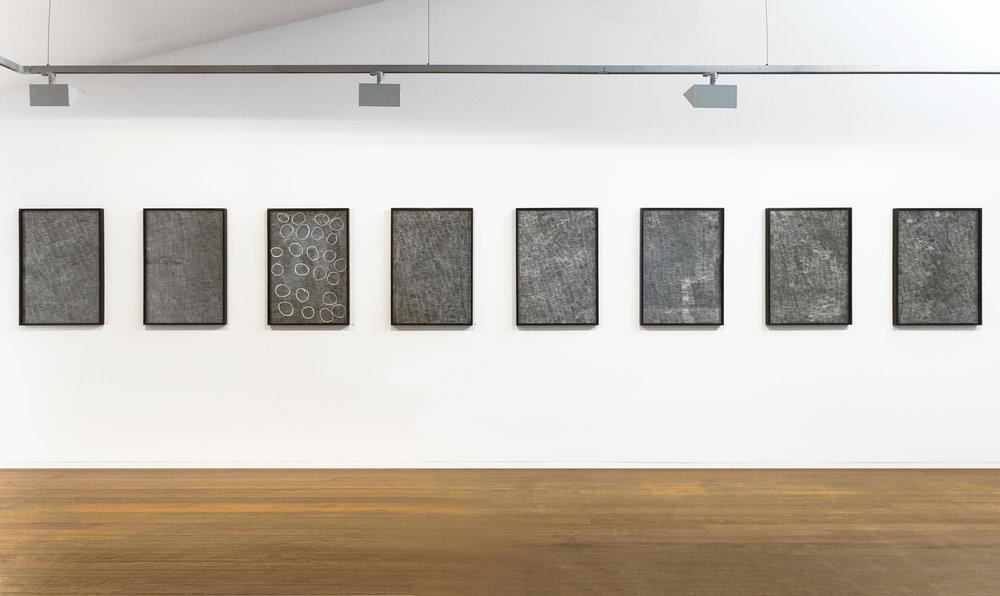 Installation view of 'Nyapanyapa Yunupingu', 24 January - 18 February 2017, Roslyn Oxley9 Gallery. Courtesy the artist and Roslyn Oxley9 Gallery, Sydney.