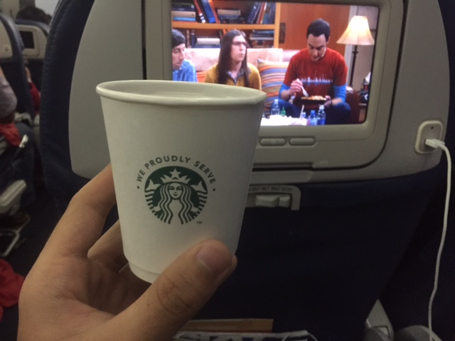 Starbucks coffee on an airplane? INSANE!