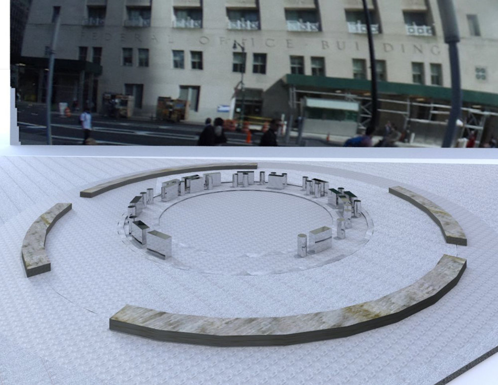 Global Citizen, Public Sculpture, Downtown, NY, 2018