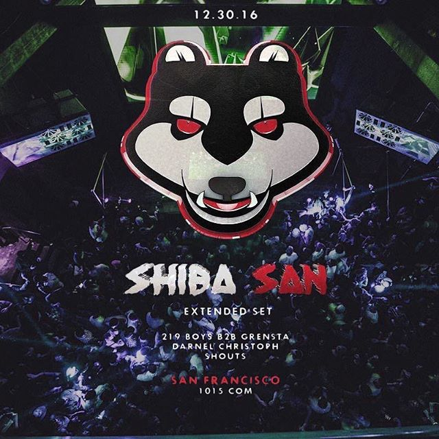 Tomorrow!! @1015sf & @selectentertainment present @shibasanmusic with @219boys_official b2b @thegrensta, @darnelchristoph & me!!! #housemusic #ghouse #basshouse