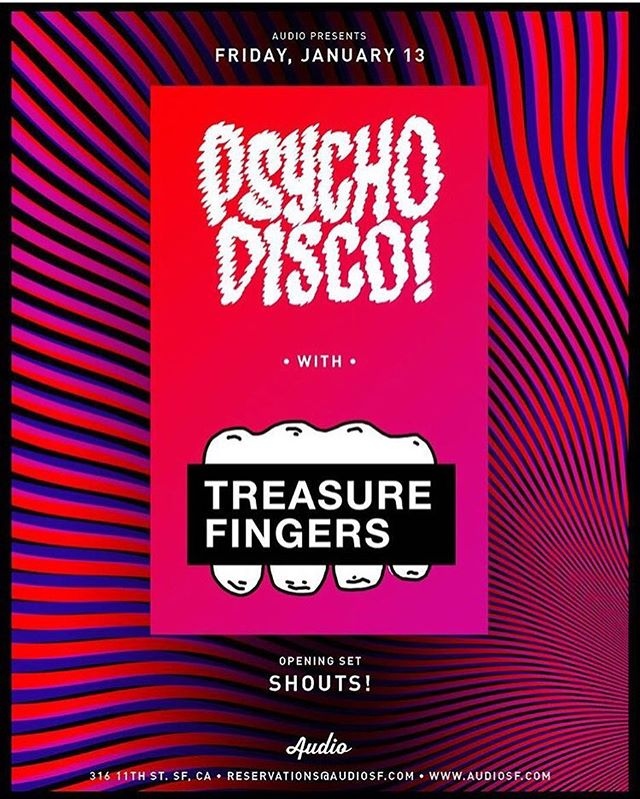 Super excited to play at @audiosf tomorrow with @treasurefingers!! Let's do this! #basshouse #ghouse #housemusic #psychodisco @selectentertainment