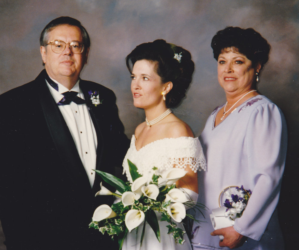 Dad, Me & Mom at My Wedding