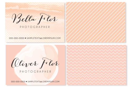 6 trendy business card