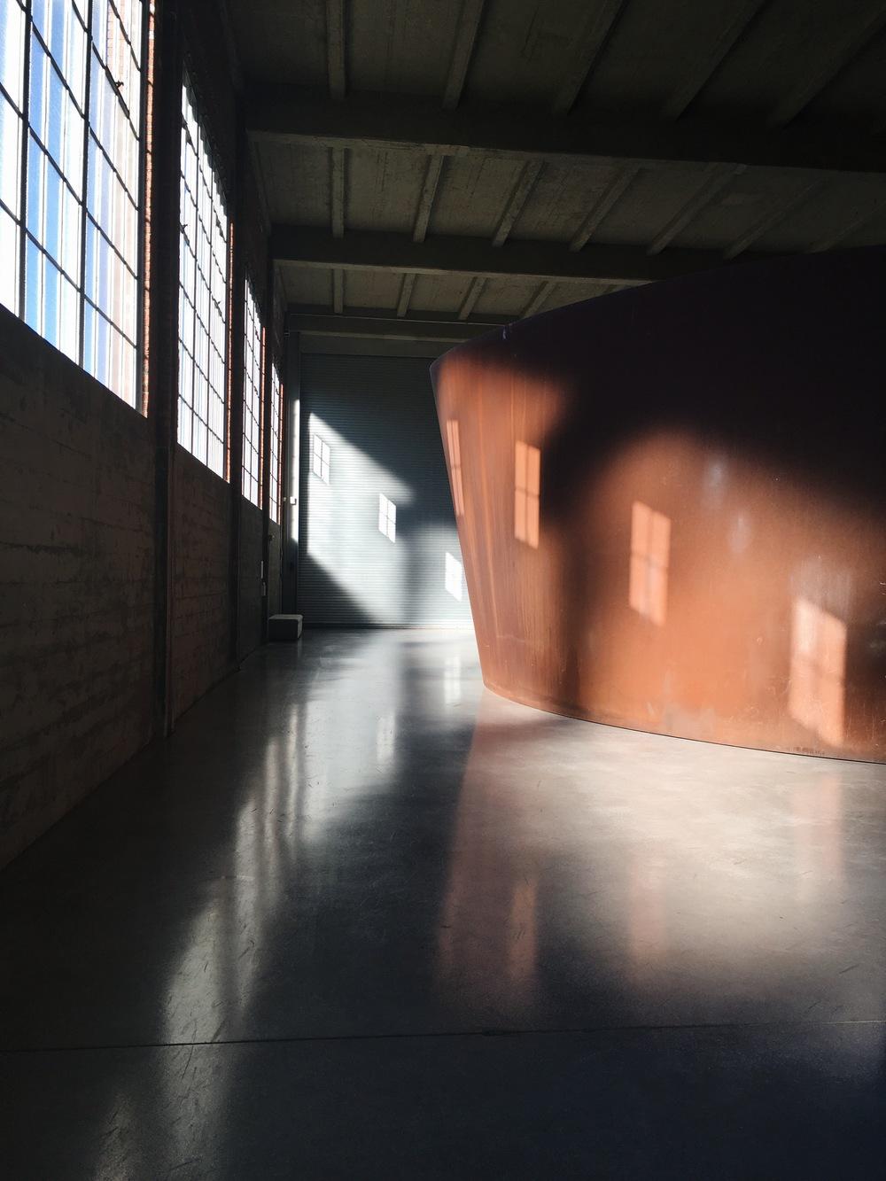 Richard Serra's work at Dia: Beacon | Photo: Jinglu Huang