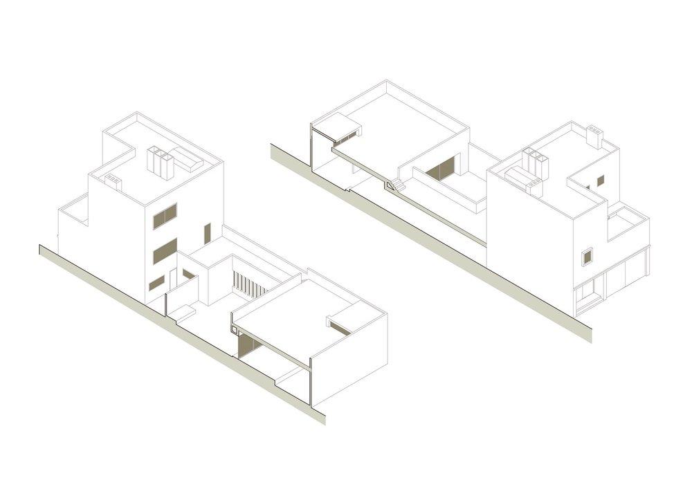 Casa Gilarda Axonometrica |Wikiarquitectura