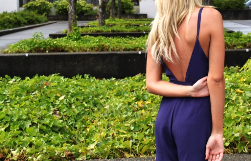 Backless Jumpsuit Karlie Rae Blog