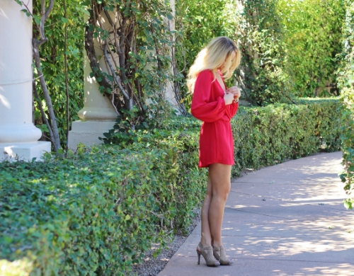 Windsor red romper | valentines day looks | www.karlieraeblog.com