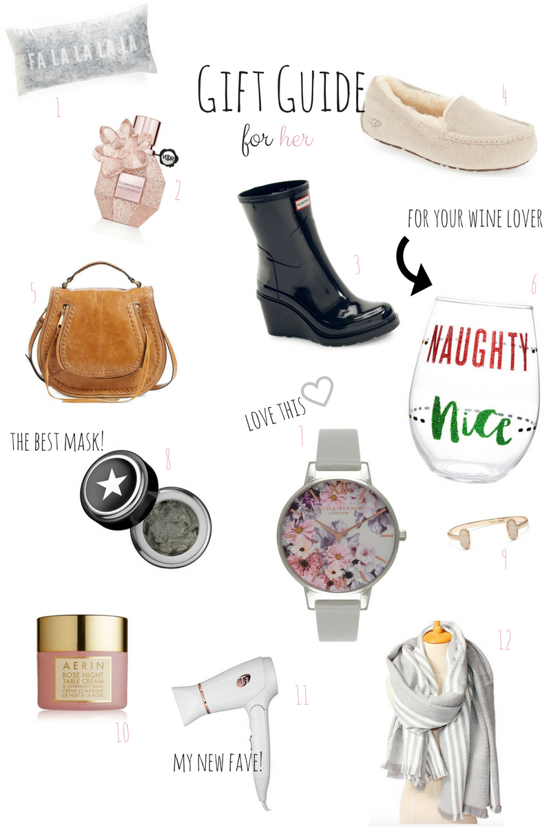 Holiday Gift Guide For Her via xxkarlierae.com