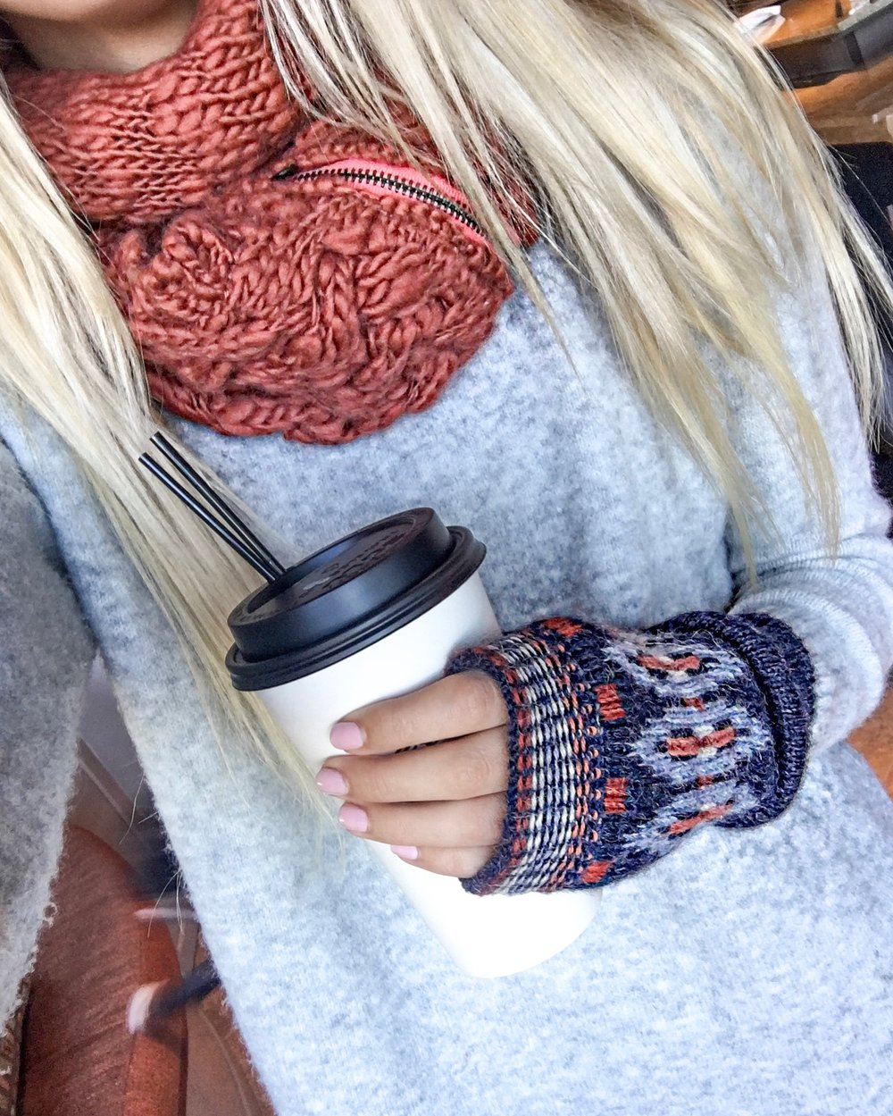 Neck warmer + fingerless | Sweater