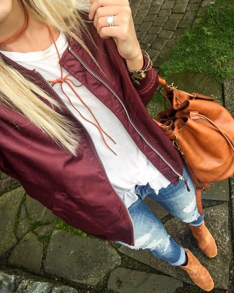 Jacket | Choker | Denim | Booties | Purse | Bracelet | Bracelet