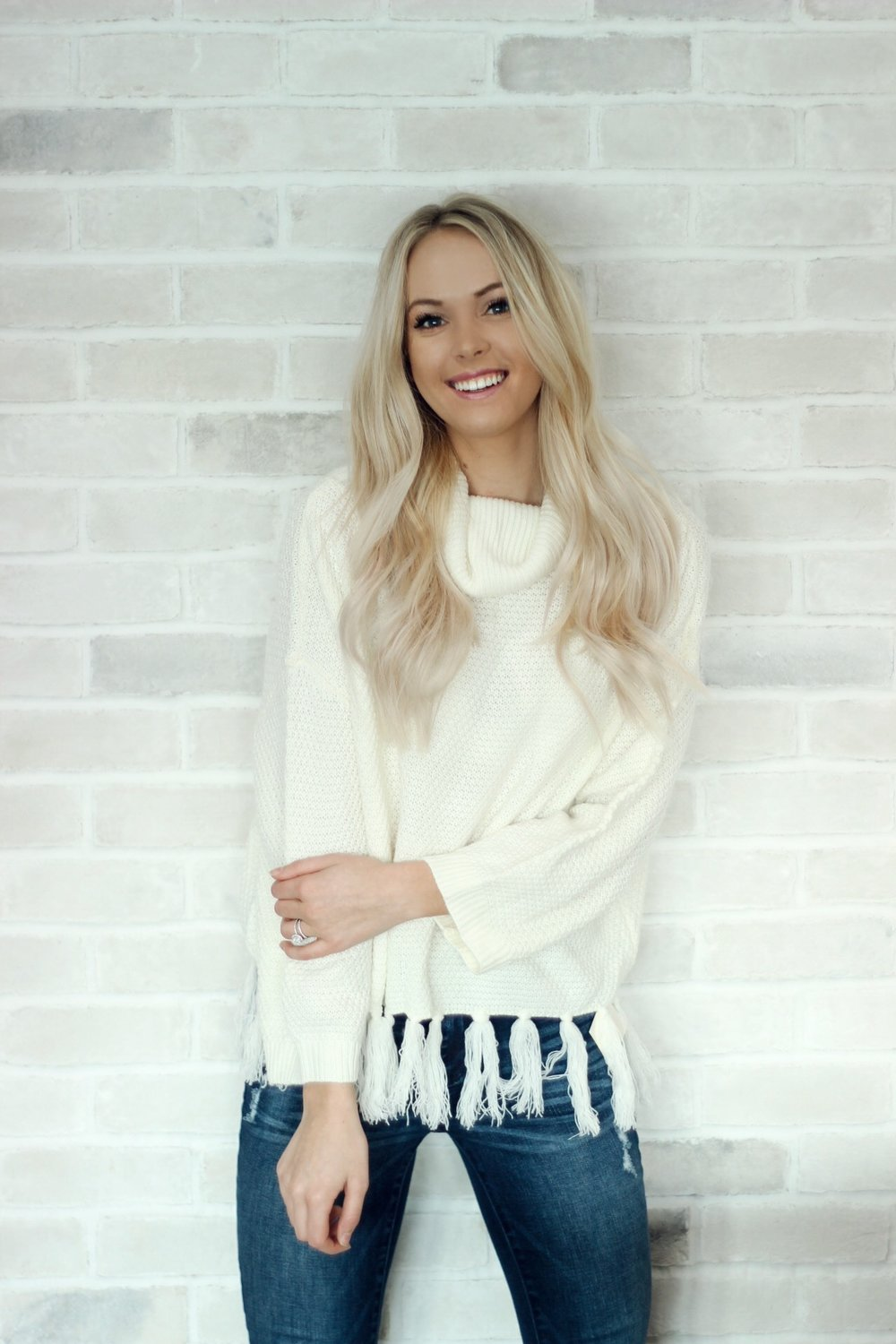 Fringe sweater will be available for $32!