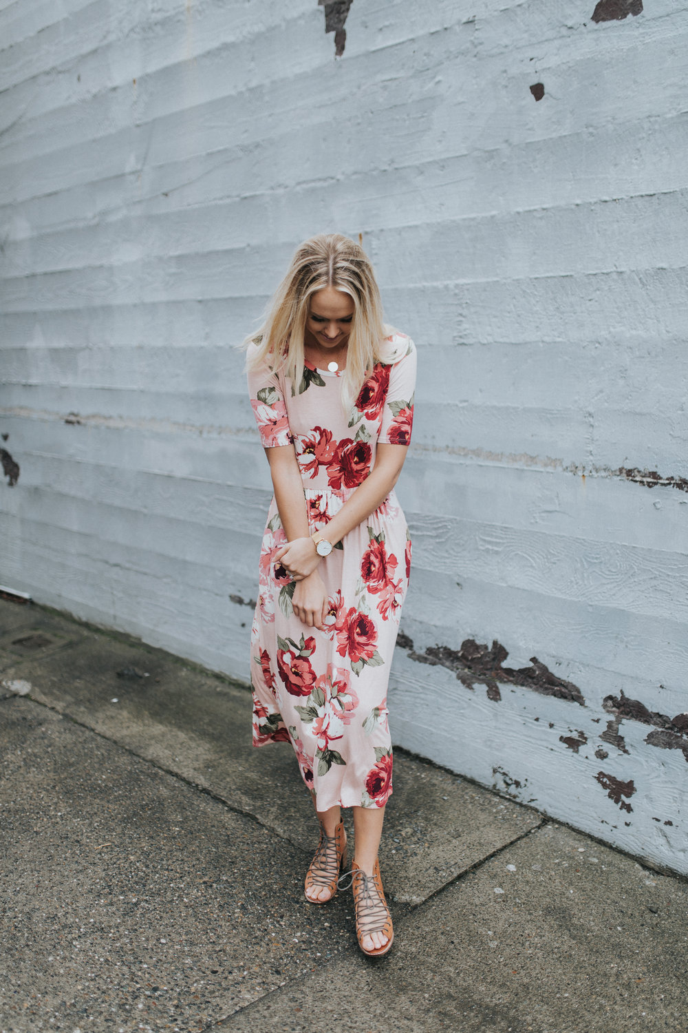 Shop KarlieRae floral midi dress | @karlierae @shopkarlierae