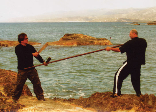 Sifu Lam and Sifu Evangelos in Greece - 2007