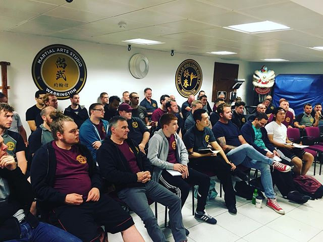 Full house here in Warrington for day 1 of this weekend's seminars! #garylam #garylamwingchun #glwc #flyhimaway #warrington #wongshunleung #wslvt #cranesproduction #vingtsun #wingchun #kungfu #martialarts #ma #fitness #instafit #train #training #health #workhardfighthard #belikewater #fun #instadaily #la #losangeles #california #ca #workout #workingout