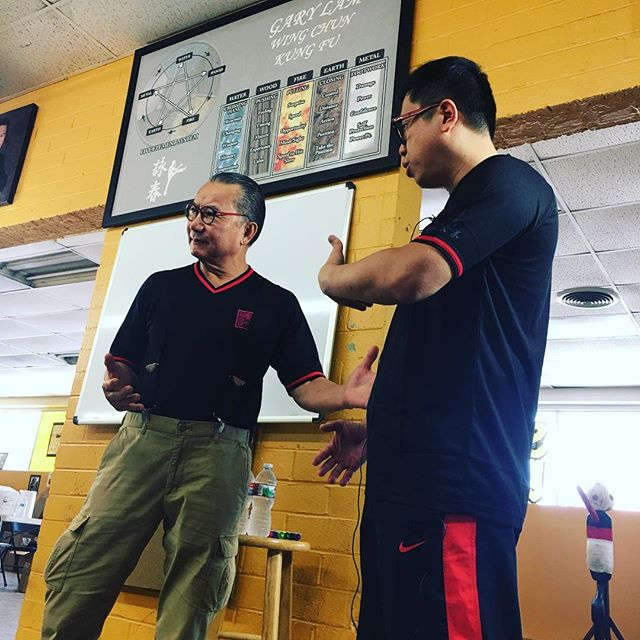 Such an honor to have one of Master Wong Shun Leung's most senior disciple and a masterful practitioner himself, Wan Kam Leung, to be presenting at our school for this wonderful event! Here he is accompanied by his student, Sifu William Kwok of Gotham Martial Arts #garylam #garylamwingchun #glwc #flyhimaway #wankamleung #practicalwingchun  #gothammartialarts #wongshunleung #wslvt #cranesproduction