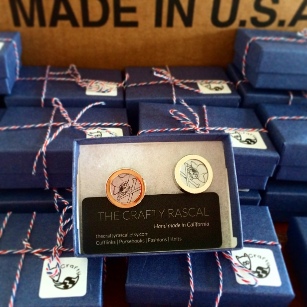 Made in the USA Cufflink to Packaging to Beer.JPG
