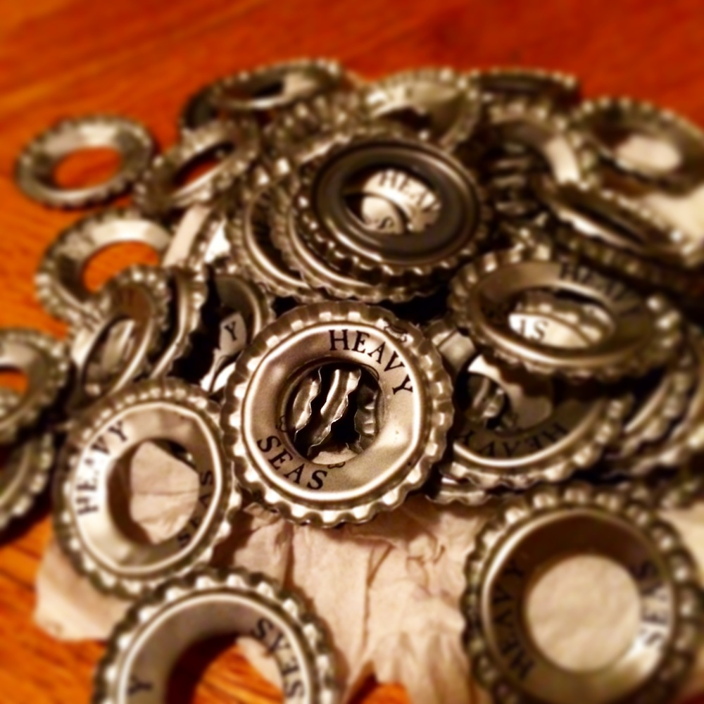 Stamped out Beer Caps.JPG