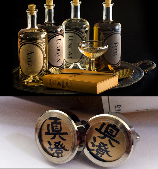 Sake Cufflinks for Father's Day