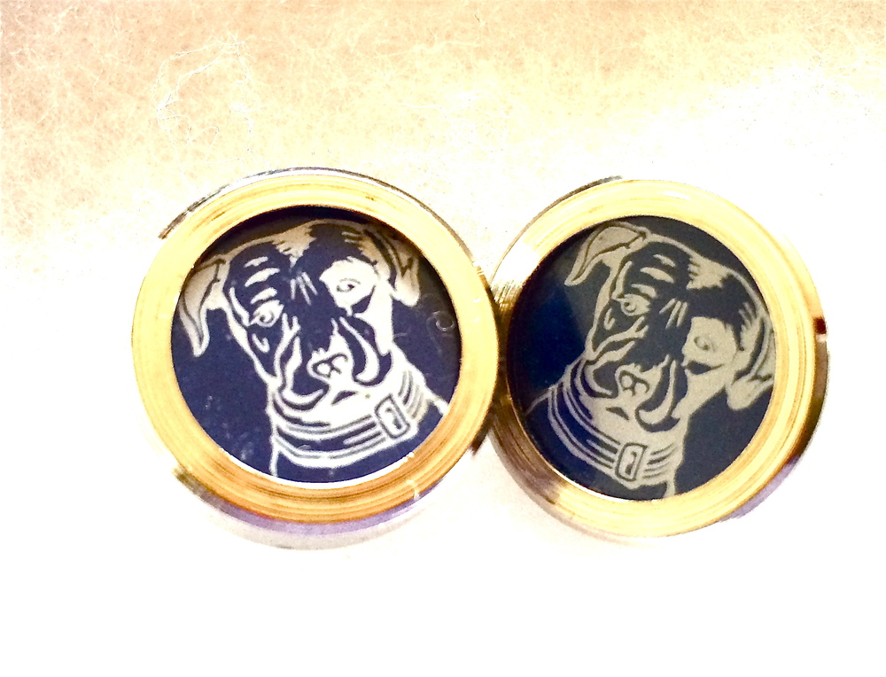 Stylish Beer Cufflinks in Blue.JPG