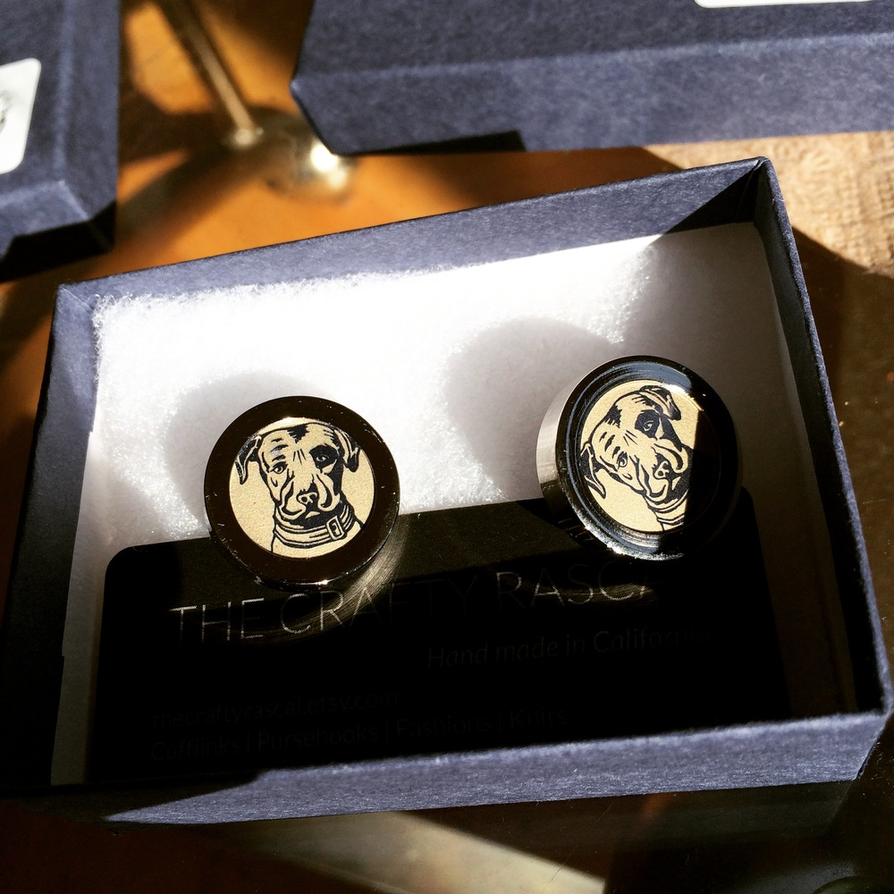 Gold Lagunitas Beer Cap Cufflinks