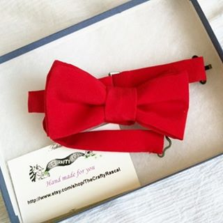 Red silk bow tie, prettied getting  shipped to a customer today. Hot!  #red #redsilk #redbowtie #handmadebowtie #weddingideas #ringbearer #mensbowtie