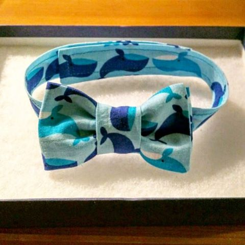 Baby boy whale bow tie in blue. Such a lovely material full of whimsy and nautical charm.  #ringbearer #boysbowtie #boys #boyswillbeboys #bowtiesarecool #bowtieswag #bowtietuesday #bowtielife