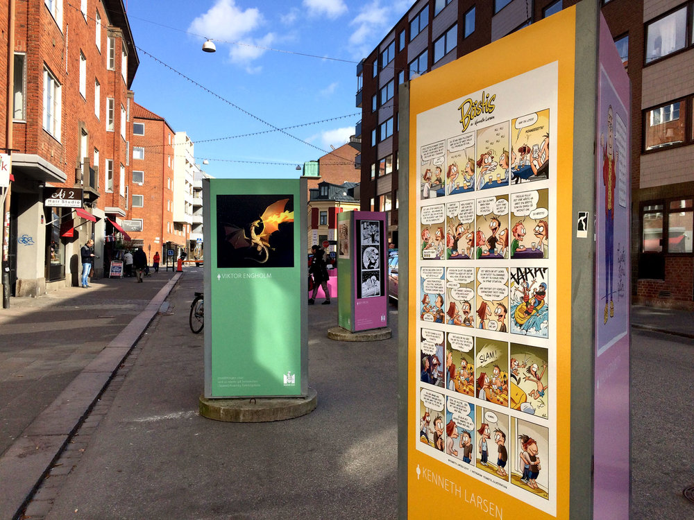 Utställning på Friisgatan, Malmö, våren 2017.