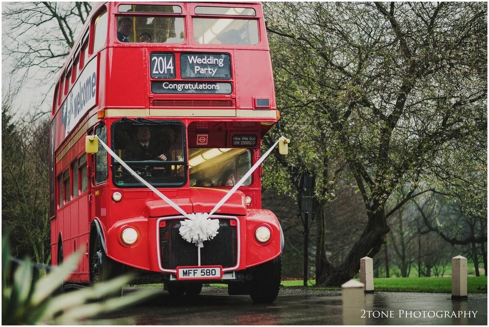 Vintage red bus
