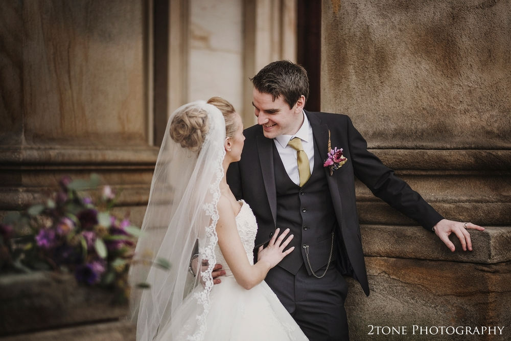 Bride and Groom at Wynyard Hall